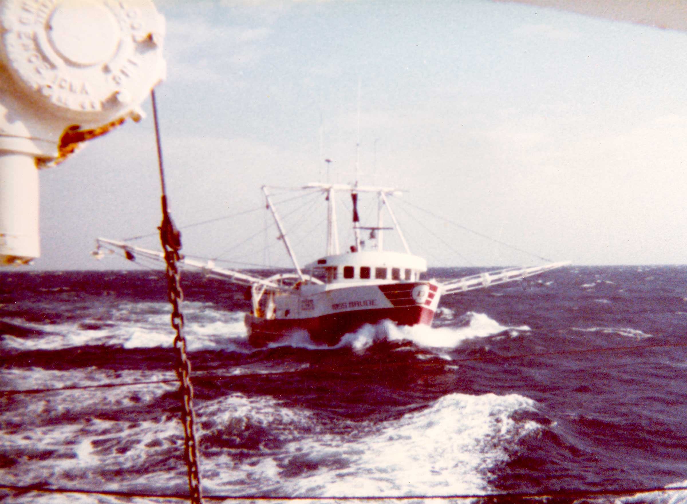 Miss Maude in seas