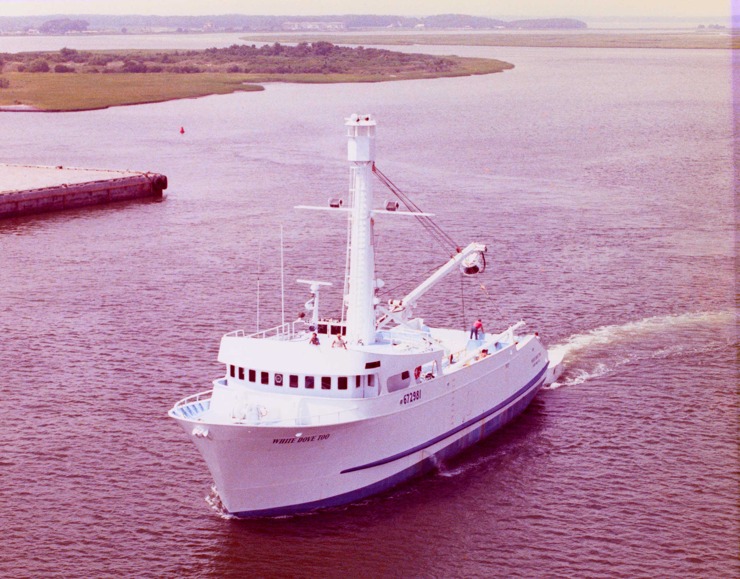 White Dove under way 1984