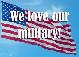 We love our military!