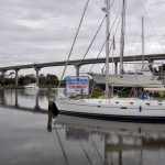 Bock Marine boat basin with sailboat