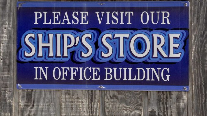 Ship's Store sign