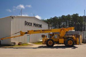 Bock Marine building and crane