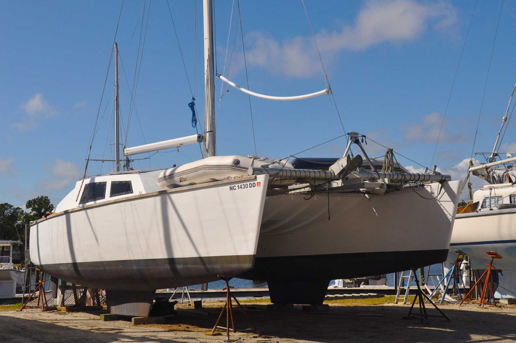 We haul catamarans up to 19 feet wide