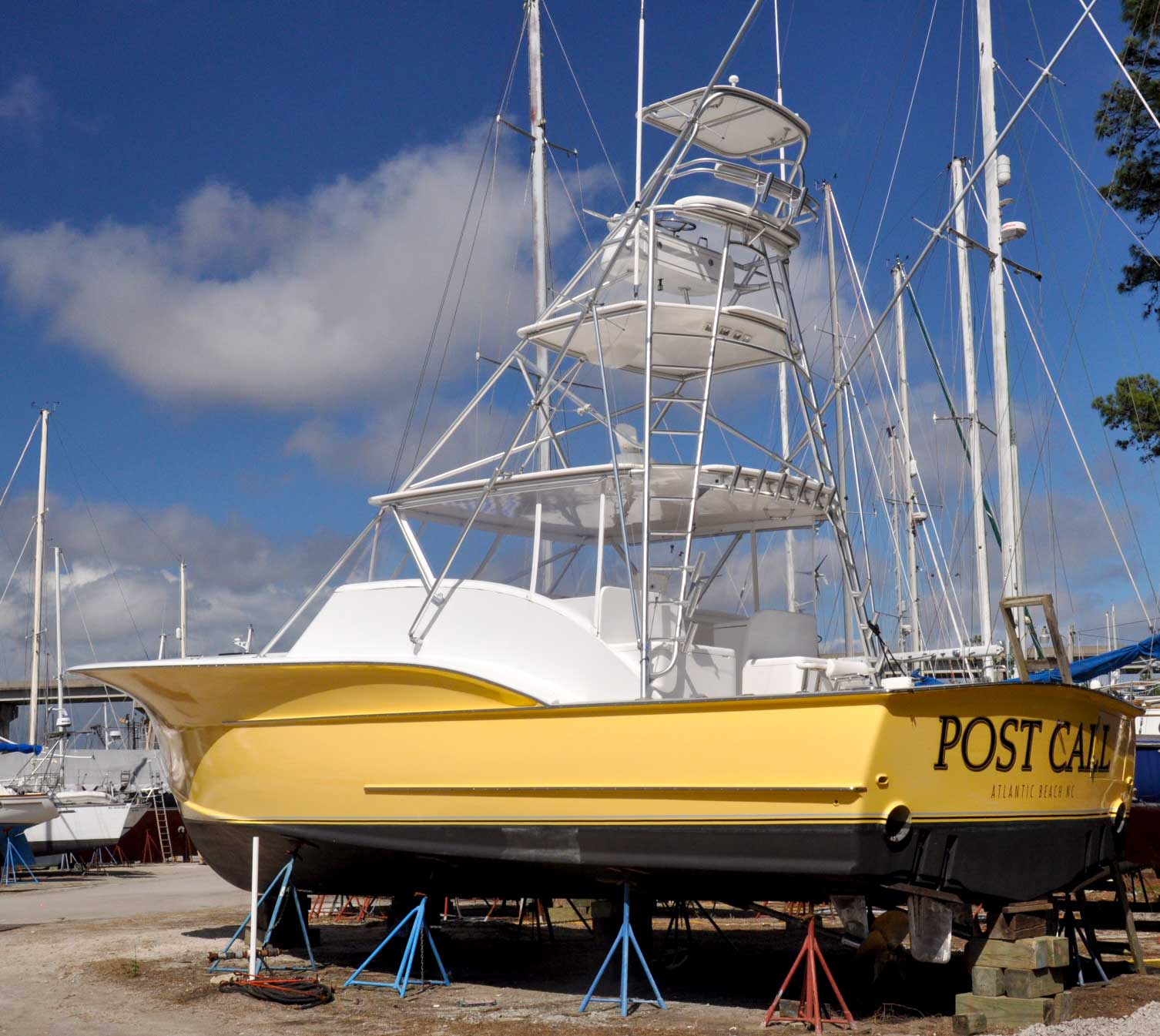 yellow-powerboat